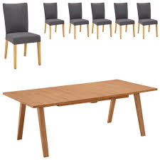 essgruppe royal oak gold nordrup 100x210 6 stühle
