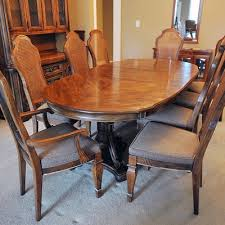 Walnut Stained Dining Table