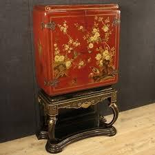 hausbar aus lackiert chinoiserie holz möbel anrichte antik stil wohnzimmer 900