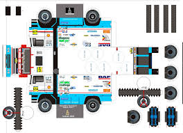 100 Trucks Paper Truck Model Craft Vans And Emergency