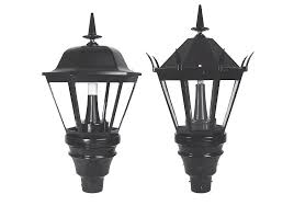 streetdreams lantern post top luminaire l current powered by ge