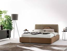 Using Different Materials Leather And Wood The Designers Of This Stylish Contemporary Bed Kauffman By Nadadora Achieved A Perfect Balance Between