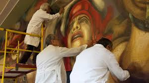 David Alfaro Siqueiros Murales La Nueva Democracia by Los Murales Del Mpba Proyecto De Conservación