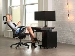 Dual Monitor Standing Desk Attachment by 100 Sit Stand Desk Attachment Kangaroo Pro Junior Adjustable