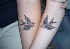 31 Amorous Matching Tattoos For Couples 2013