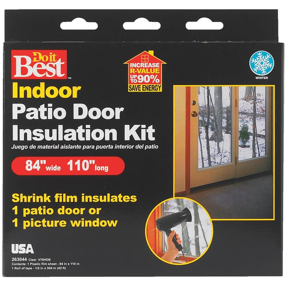 "Thermwell Do it Best Patio Door Shrink Film insulation Kit - Indoor, 84"" x 110"""