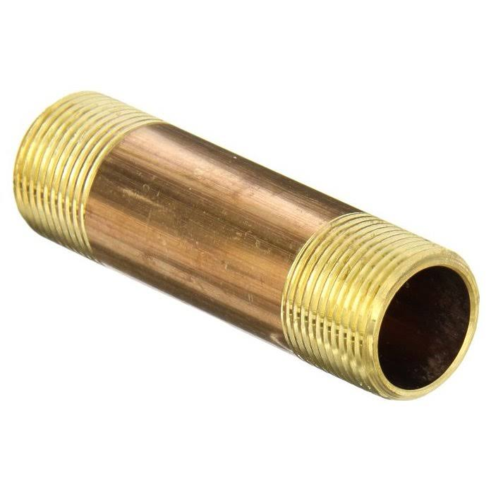 "B and K Industries 463-015 1 / 2"" X 1-1 / 2"" Red Brass Nipple"