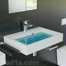 eckig waschbecken gussarmor 60x10x42 badezimmer waschtisch mit überlauf