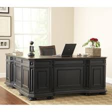 Sauder Edge Water Executive Desk by Allegro L Desk And Return