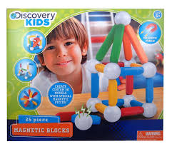 amazon com discovery kids 25 piece magnetic blocks toys games