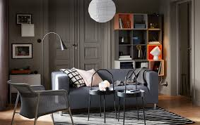 Chic Ideas Front Room Furniture Living IKEA A Small Grey And ...
