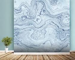 light blue marble wallpaper wall mural wallsauce usa