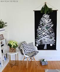 DIY Black And White Christmas Tree Wall Hanging