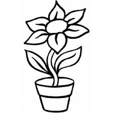 Plants And Flowers Coloring Pages