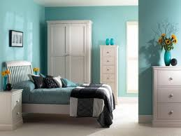 good color combination interior bedroom theme white and blue color