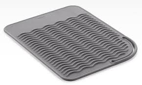 oxo silicone sink mat oxo flat iron mat in hair dryer holders