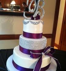 Silver and purple wedding cakes 83