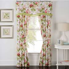 Light Pink Ruffle Blackout Curtains by Emmas Garden Floral Window Treatment By Waverly