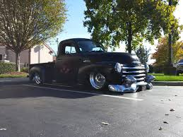 1953 Chevy Advanced Design Pickup Truck In Black Slammed Over Sold ... 1966 Chevy C10 Current Pics 2013up Attitude Paint Jobs Harley Custom Slammed Chevy 3500hd Trucks Google Search Custom Autos How About Some Pics Of 7387 Short Beds Page 250 The 1947 Badass Slammed Truck Spotted At Sema 2015 Blacksheep Silverado Accuair Suspension Lowered Flat Red Low Life Pinterest 1941 Bag Man Total Cost Involved 97 1500 Youtube 1946 For Your Fix The Day Cmw Trucks 1985 Is So Sexy In Its Blacked Out Profile