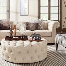 Craftmaster Sofa In Emotion Beige by Signal Hills Knightsbridge Beige Linen Tufted Scroll Arm