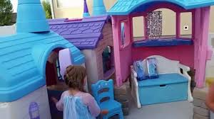 Frozen Castle Playhouse Created By Pam Fluckiger | Toys ... A Diy Playhouse Looks Impressive With Fake Stone Exterior Paneling Build A Beautiful Playhouse Hgtv Building Our Backyard Castle Wood Naturally Emily Henderson Best Modern Ideas On Pinterest Kids Outdoor Backyard Castle Plans Plans Idea Forget The Couch Forts I Played In This As Kid Playhouses Playsets Swing Sets The Home Depot Pirate Ship Kits With Garden Delightful Picture Of Kid Playroom And Clubhouse Fort No Adults Allowed
