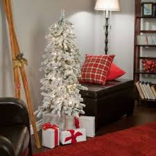 5ft Pre Lit Christmas Tree Sale by Gerson Company Flocked Alpine Pre Lit Christmas Tree White 5 Ft