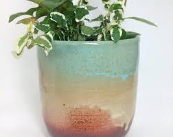 Tall Succulent Planter Ceramic Flower Pot Pottery Cactus Stoneware