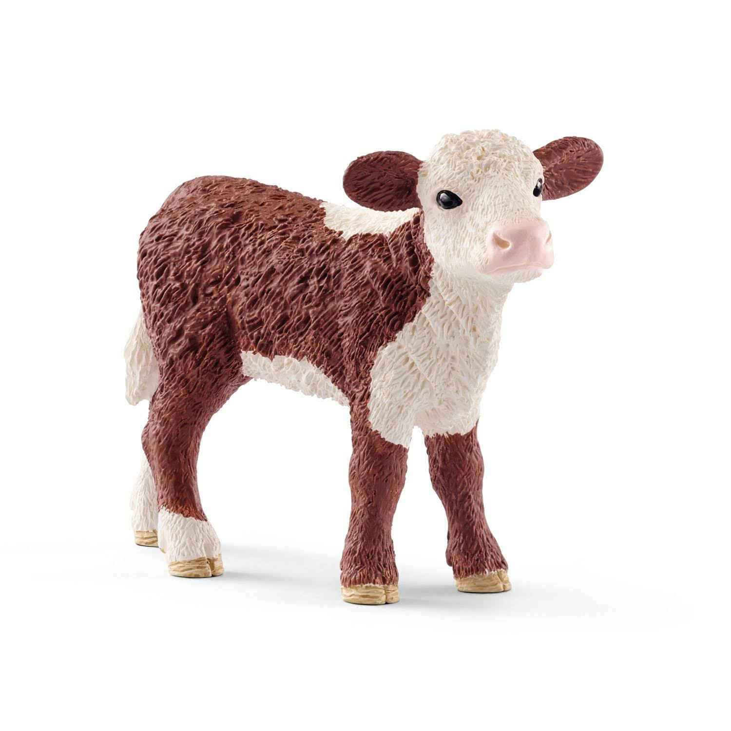 Schleich Farm World Hereford Calf Collectable Animal Figure