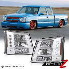 100 2006 Chevy Truck 1PC HeadlightBumper Signal Crystal Lamp 2003 Silverado