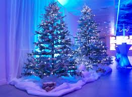 Plantable Christmas Trees Columbus Ohio by Christmas Tree Set Piece With Fake Snow And Snowballs Ice Blue