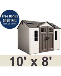 Hot Winter Deals  f Lifetime Garden Shed 10x8