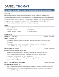 View Resume COUNTER SALES REP