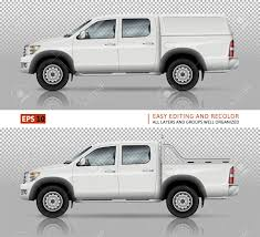 100 Truck Well Pickup Vector Mock Up For Car Branding And Advertising