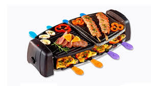 cuisine quigg quigg electric raclette grill with pans spatulas 1300 w makhsoom