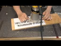 routing a wood sign youtube