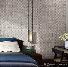 großhandel moderne leinen tapeten designs beige brown vlies flachs 3d texturierte tapete plain solid color tapeten für wohnzimmer yomanmural