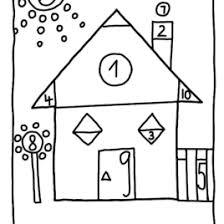 Coloring Pages Shapes Math HouseMath