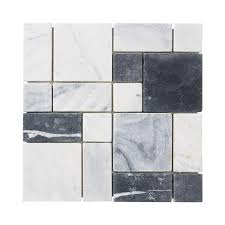 Jeffrey Court Mosaic Tile by Jeffrey Court Carrara Block 12 In X 12 In X 10 Mm Marble Mosaic