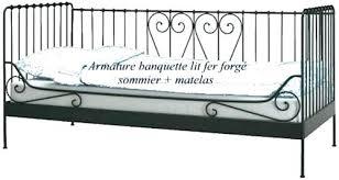 canapé lit fer forgé banquette lit metal lit metal ikea banquette lit fer forgac ikea