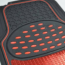 METALLIC RUBBER FLOOR Mats Red For Car SUV Truck Black Trim To Fit 4 ... Us 4pcs Car Truck Suv Van Custom Pvc Rubber Floor Mats Carpet Front Amazing Wallpapers Hot Sale Uxcell Peeva Foam Plastic Suv Trunk Cargo Oxgord Diamond Rugged 3piece Allweather Automotive Buy Plasticolor 0054r01 2nd Row Footwell Coverage Black 000666r01 1st With Graphics Top 10 Best Liners 2017 Review Rated Metallic Red For Trim To Fit 4 Pilot Piece Tan Mat Set Queen Weathertech Allweather Mobile Living And