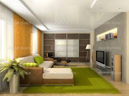 Fantastic Design For Apartment Living Room Decorating Ideas Classy Green Furry Carpet In