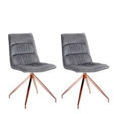 esszimmer stühle in hellgrau kupfer lilliana 2er set