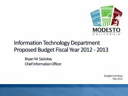 Nd Itd Help Desk by Budget Workshop May The Information Technology Department Itd