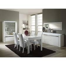 salle a manger complet salle à manger complète blanc laqué design l 160 cm achat