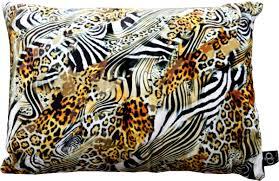 casa padrino luxus deko kissen nevada leopard zebra 35 x 55 cm feinster samtstoff wohnzimmer kissen