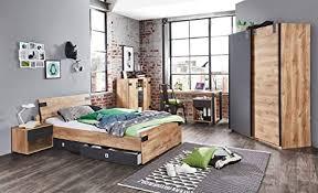 lifestyle4living jugendzimmer komplett set in plankeneiche