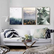 kunst forest plant floral canvas wall picture nordic wall