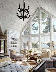 Informalsuper Log Cabin Decorating Ideas For Foxy Family Room Rustic Design With Cathedral Ceiling