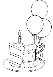 New Birthday Cake Coloring Page Printable Image Best Colouring Pages Drawing Ideas Slice The That Will Be Packed