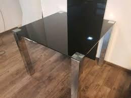 esszimmer glastisch chrom schwarz